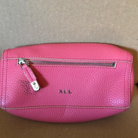 8b219fe60b8c Lauren Ralph Lauren Handbags - Lauren Ralph Lauren Cosmetics Pink Leather  Case
